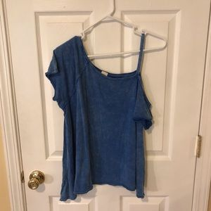 Free People Coraline Cold Shoulder Tee Small
